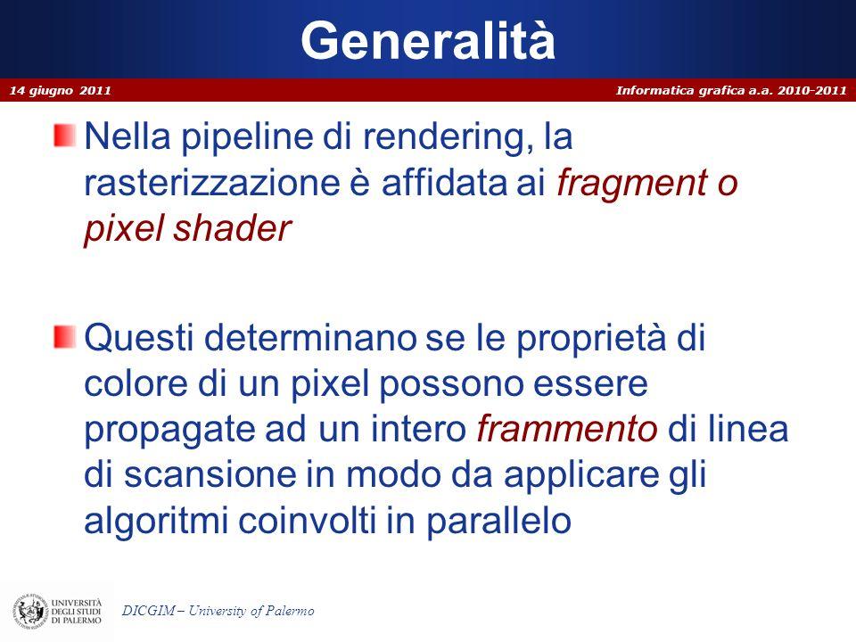 Informatica grafica a.a. 2010-2011 DICGIM – University of Palermo Clipping di rette 14 giugno 2011