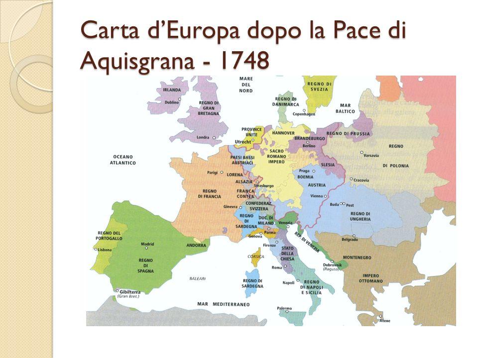 Carta dEuropa dopo la Pace di Aquisgrana - 1748
