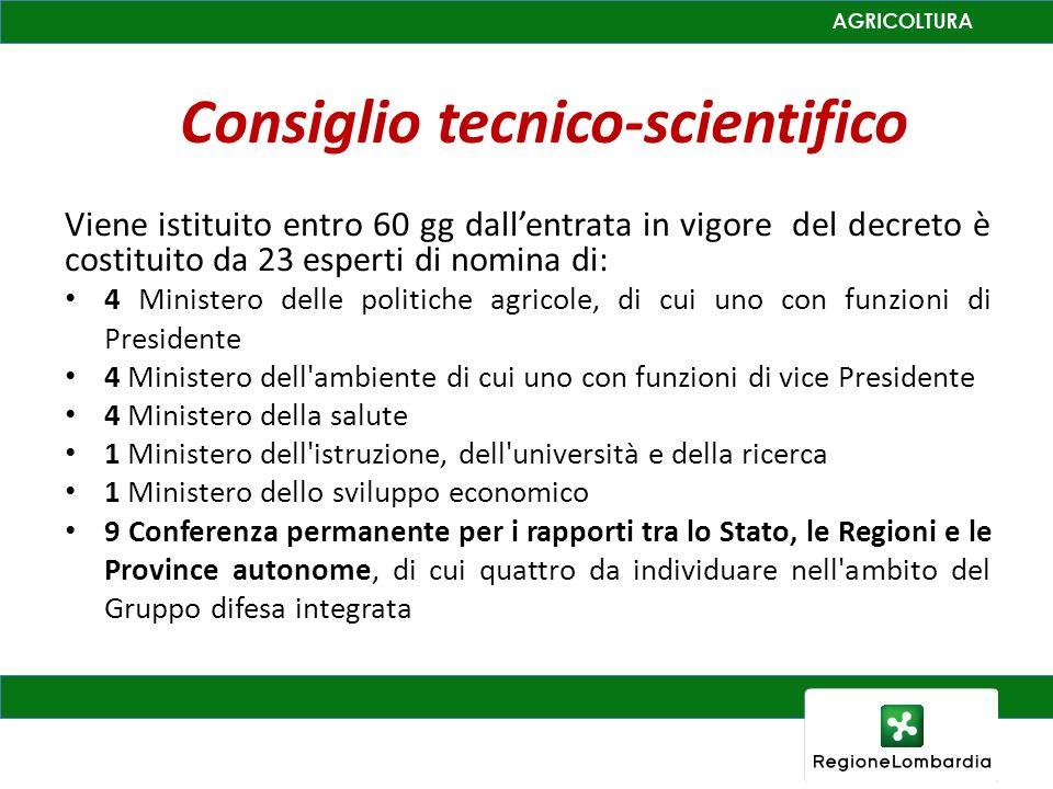 Consiglio tecnico-scientifico Viene istituito entro 60 gg dallentrata in vigore del decreto è costituito da 23 esperti di nomina di: 4 Ministero delle