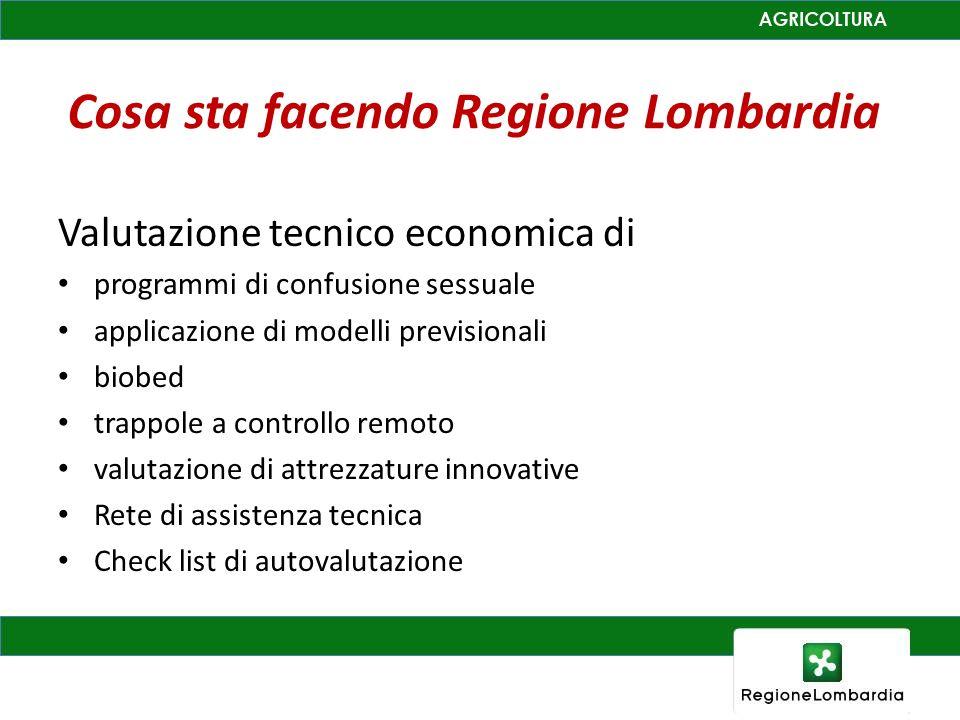 Cosa sta facendo Regione Lombardia Valutazione tecnico economica di programmi di confusione sessuale applicazione di modelli previsionali biobed trapp