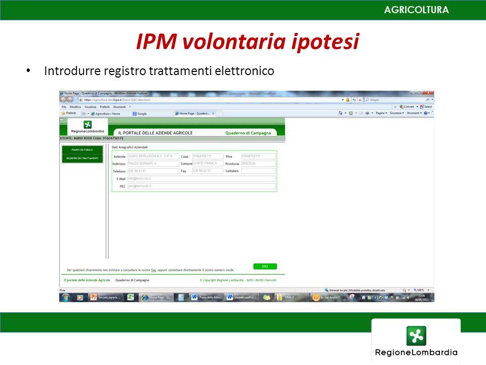 IPM volontaria ipotesi Introdurre registro trattamenti elettronico