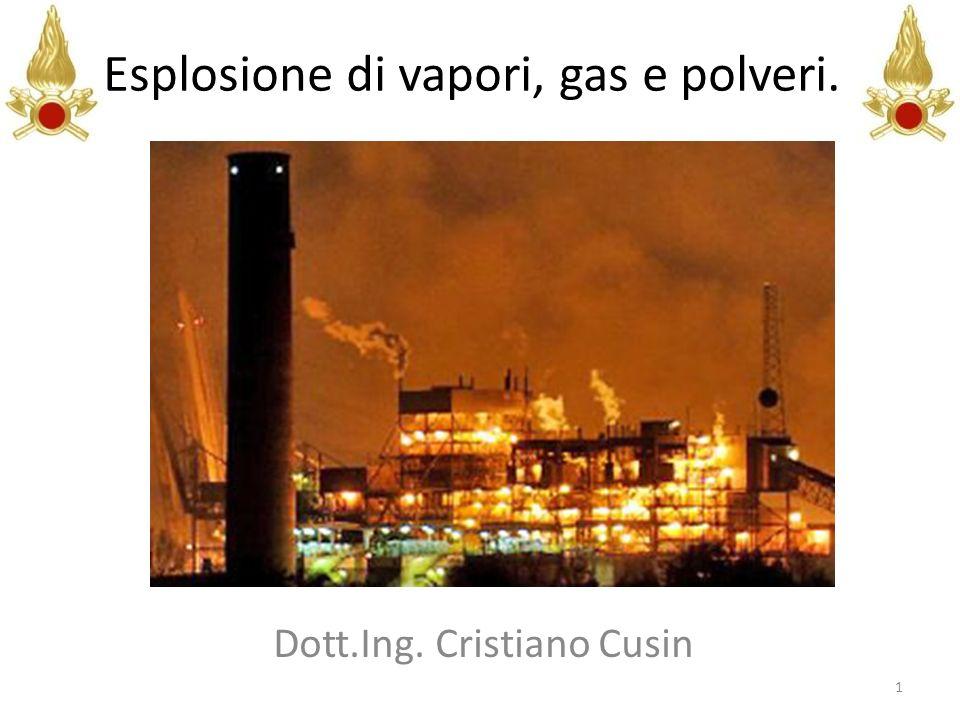 Esplosione di vapori, gas e polveri. Dott.Ing. Cristiano Cusin 1