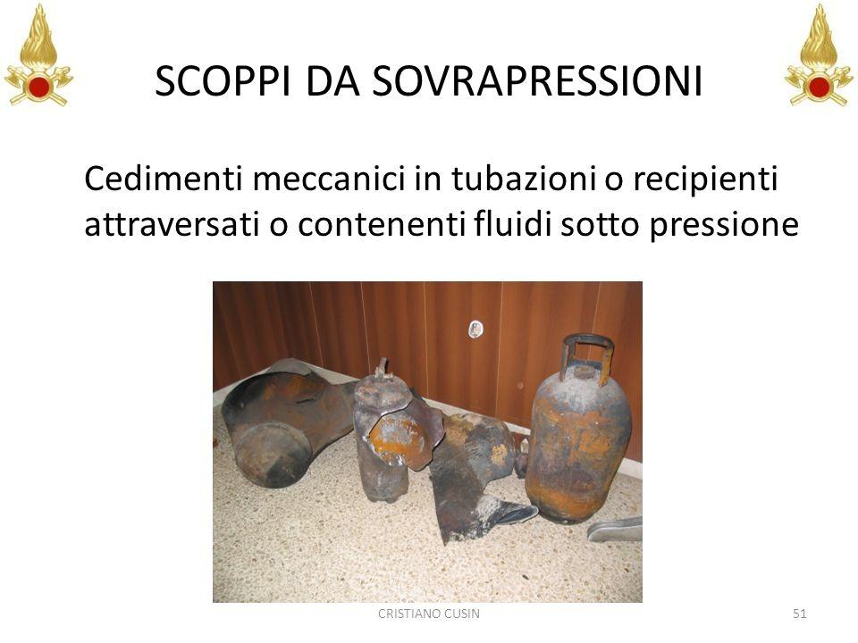 SCOPPI DA SOVRAPRESSIONI Cedimenti meccanici in tubazioni o recipienti attraversati o contenenti fluidi sotto pressione 51CRISTIANO CUSIN
