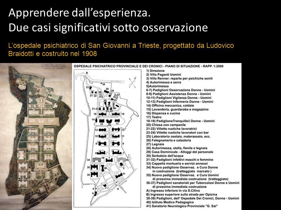 Apprendere dallesperienza. Due casi significativi sotto osservazione Lospedale psichiatrico di San Giovanni a Trieste, progettato da Ludovico Braidott