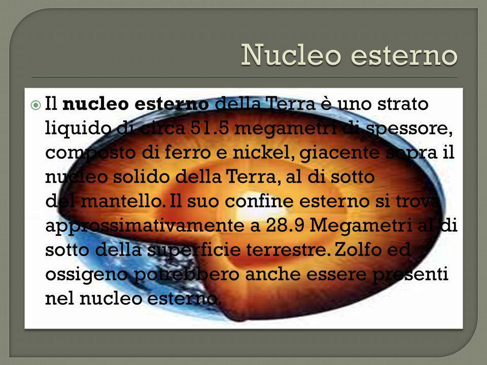 Il nucleo esterno della Terra è uno strato liquido di circa 51.5 megametri di spessore, composto di ferro e nickel, giacente sopra il nucleo solido della Terra, al di sotto del mantello.
