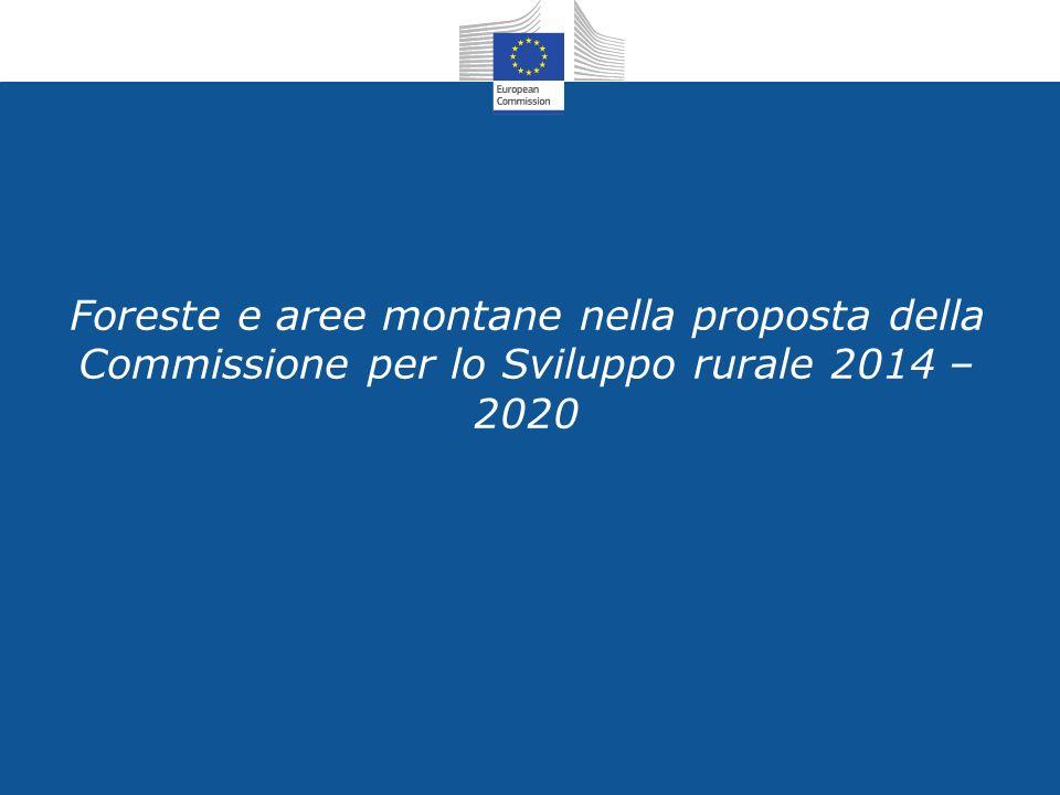 Foreste e aree montane nella proposta della Commissione per lo Sviluppo rurale 2014 – 2020