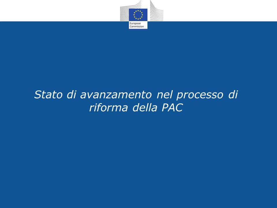 Stato di avanzamento nel processo di riforma della PAC