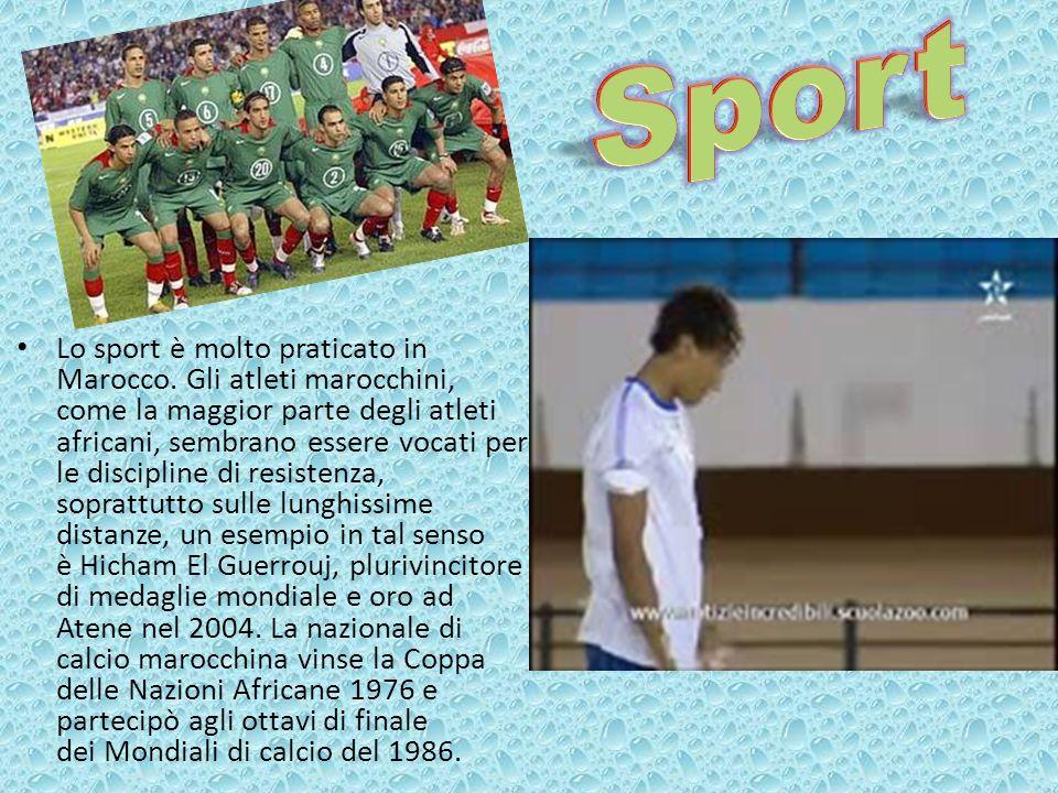 Lo sport è molto praticato in Marocco. Gli atleti marocchini, come la maggior parte degli atleti africani, sembrano essere vocati per le discipline di