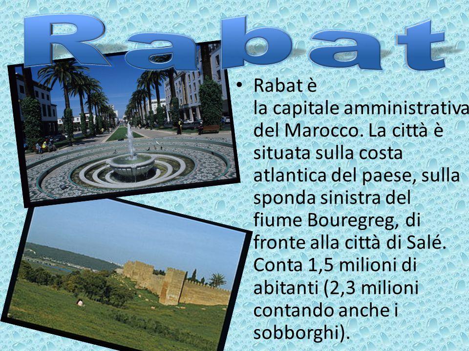 Rabat è la capitale amministrativa del Marocco. La città è situata sulla costa atlantica del paese, sulla sponda sinistra del fiume Bouregreg, di fron