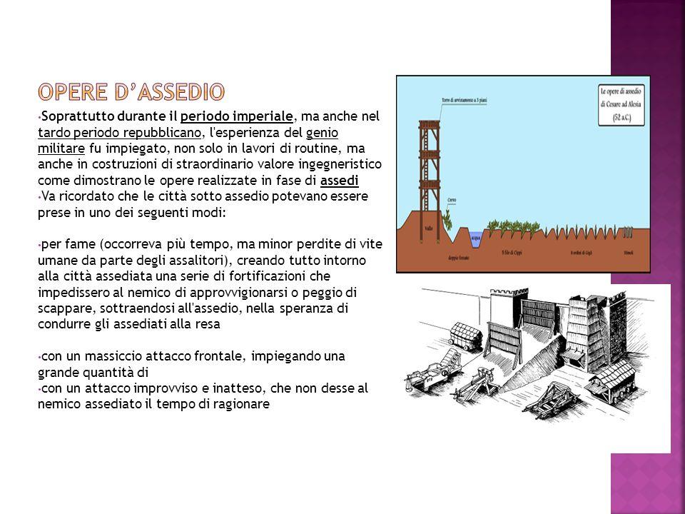 L esercito romano prendeva, inoltre, parte a progetti di costruzione per uso civile.