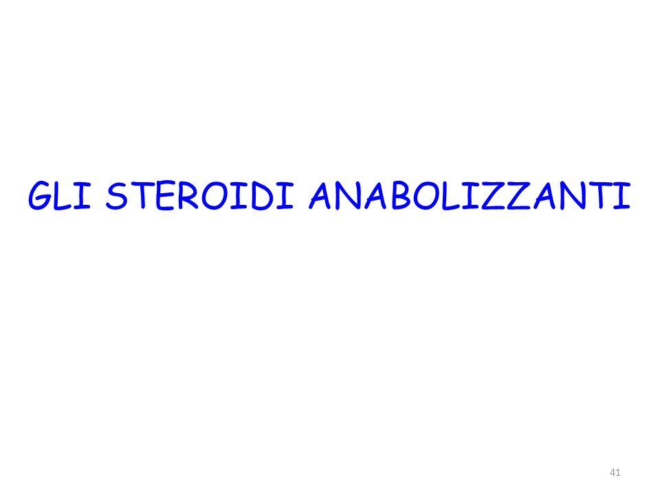 41 GLI STEROIDI ANABOLIZZANTI