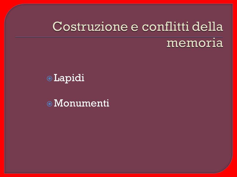 Lapidi Monumenti