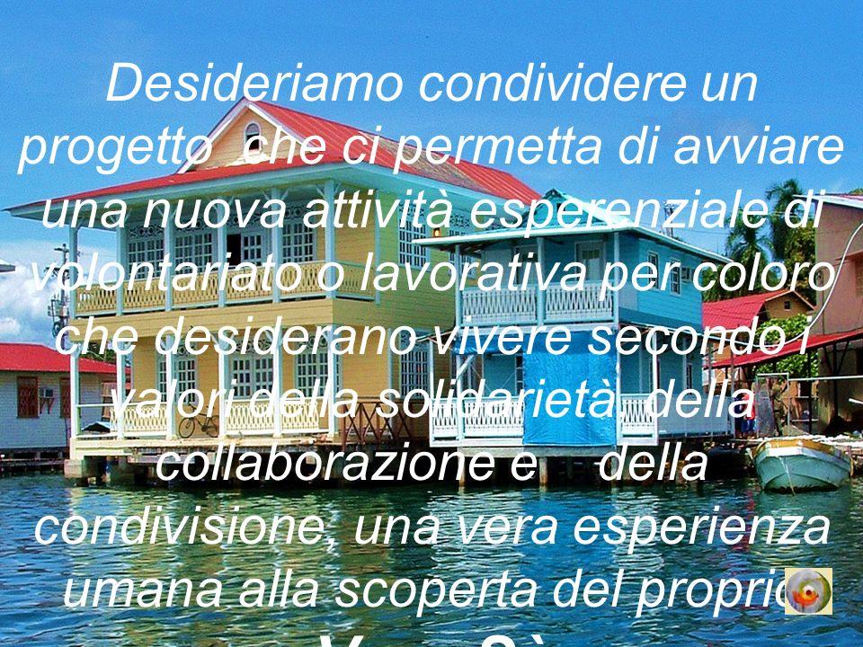 Il progetto vuole costruire un ponte ideale tra Italia e Panamà, tra noi e gli altri, e si suddivide in tre fasi: La prima prevede un viaggio con lobiettivo di valutare la fattibilità di questa iniziativa, La seconda consiste nella realizzazione vera e propria del progetto, La terza consta nella effettiva condivisione della ricerca del nostro Vero Sé I costi della prima fase si riassumono in questa forma: Biglietto aereo per tre mesi per due persone 2.500,00 Affitto casa ammobiliata per mese 500,00 Noleggio auto per giorno di necessità 50,00 Spese pasti per giorno per due persone 50,00 Spese per spostamenti,voli interni e spese forfait 3.000,00