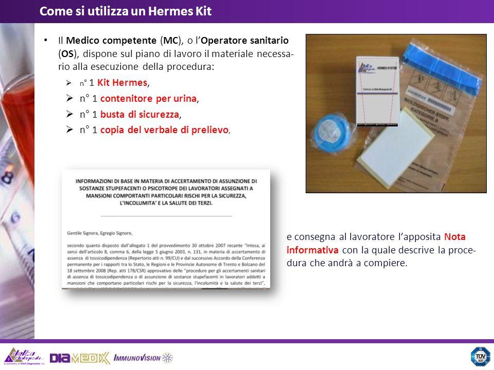 Il Medico competente (MC), o lOperatore sanitario (OS), dispone sul piano di lavoro il materiale necessa- rio alla esecuzione della procedura: n° 1 Ki