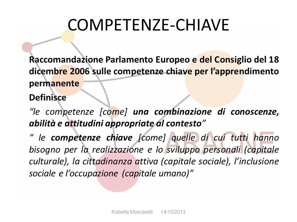 COMPETENZE-CHIAVE Raccomandazione Parlamento Europeo e del Consiglio del 18 dicembre 2006 sulle competenze chiave per lapprendimento permanente Defini