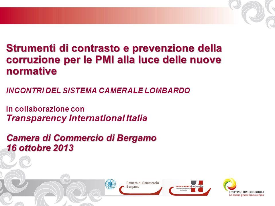 Legge 190/2012 e Legge 231/2001: gli obblighi in materia di anticorruzione Bergamo, 16 Ottobre 2013 Dott.Ermelindo Lungaro –Avv.Matteo Morichi Esperti in compliance