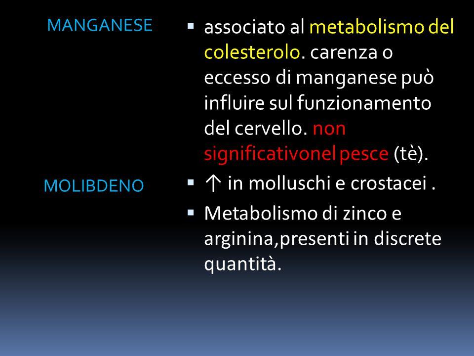 POTASSIO SELENIO regolatore pressorio,metabolismo di sodio e potassio regolamentato a livello renale.pesce e frutti di mare ne sono una ricca fonte.Pi