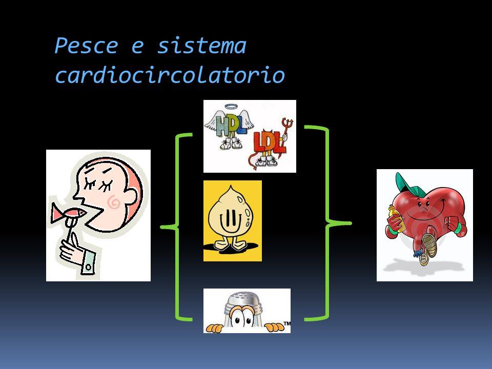 Pesce e sistema cardiocircolatorio In caso di alterazioni del ritmo : da evitare per lo stimolo tiroideo che apporta!!