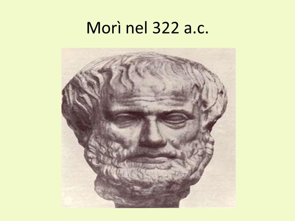 Morì nel 322 a.c.