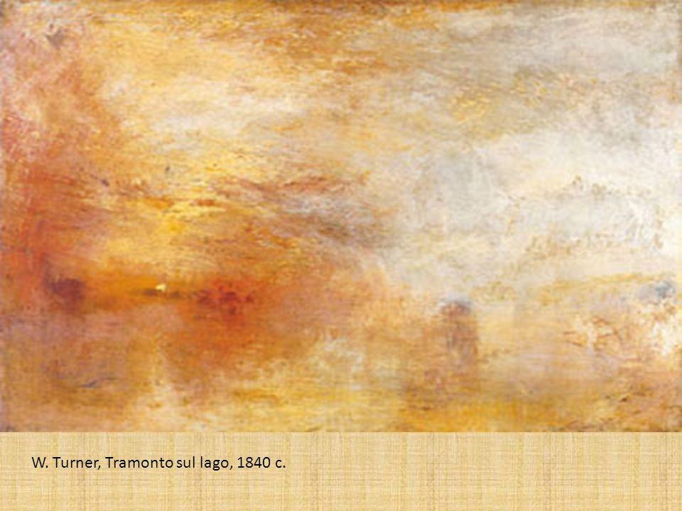 W. Turner, Tramonto sul lago, 1840 c.
