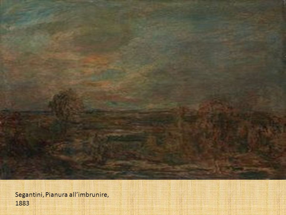 Segantini, Pianura allimbrunire, 1883