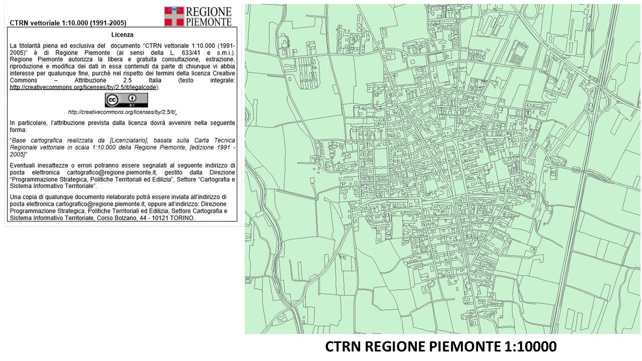CTRN REGIONE PIEMONTE 1:10000