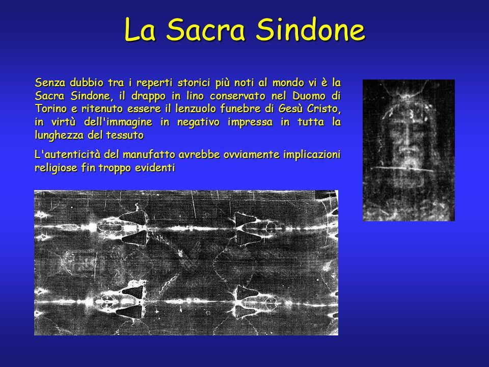 Senza dubbio tra i reperti storici più noti al mondo vi è la Sacra Sindone, il drappo in lino conservato nel Duomo di Torino e ritenuto essere il lenz