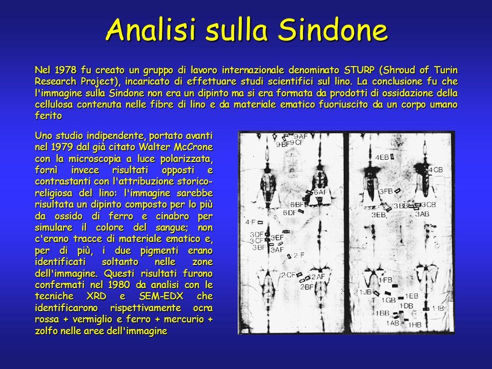 Nel 1978 fu creato un gruppo di lavoro internazionale denominato STURP (Shroud of Turin Research Project), incaricato di effettuare studi scientifici