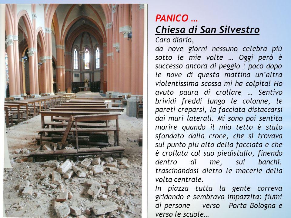 PANICO … Chiesa di San Silvestro Caro diario, da nove giorni nessuno celebra più sotto le mie volte … Oggi però è successo ancora di peggio : poco dop