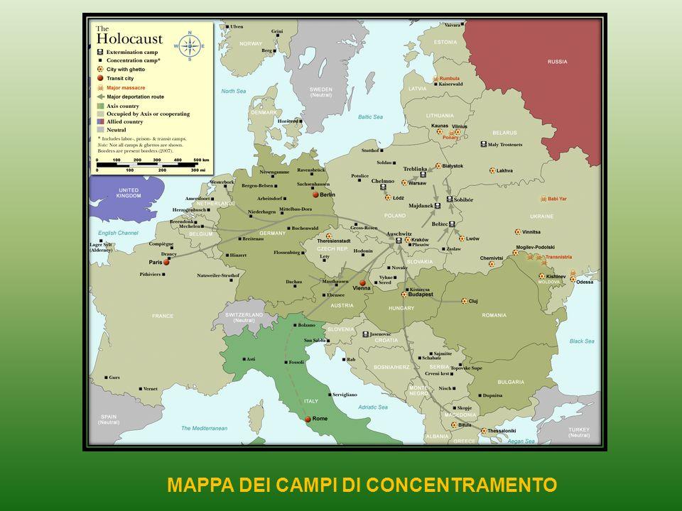 MAPPA DEI CAMPI DI CONCENTRAMENTO