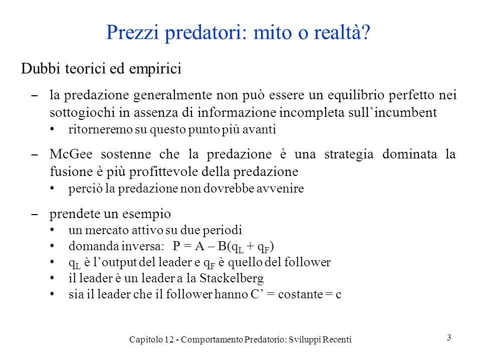 Prezzi predatori: mito o realtà.