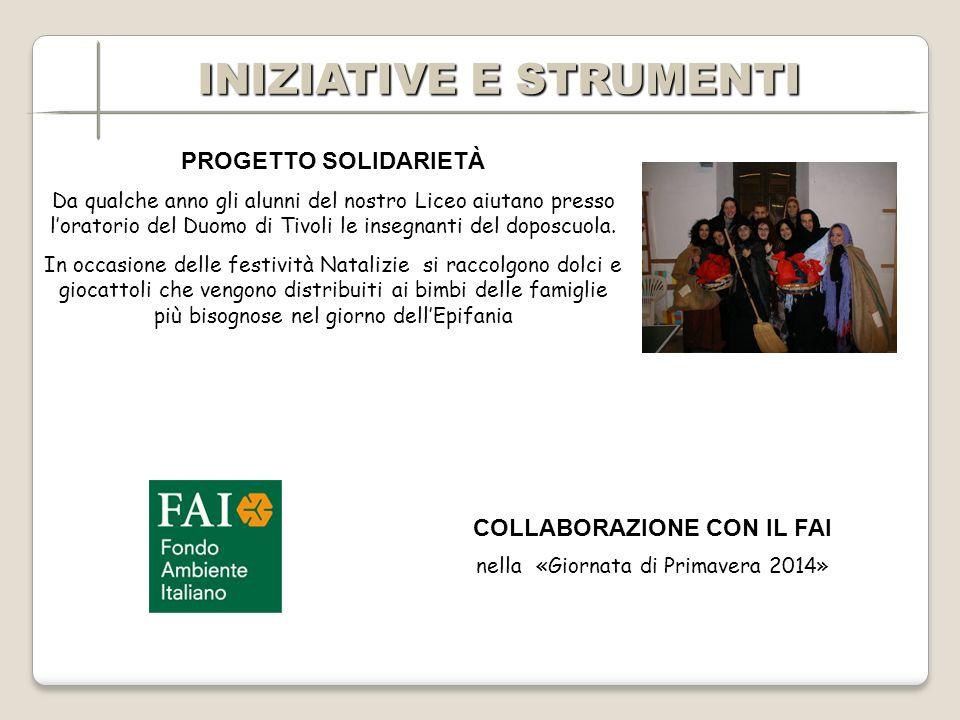 PROGETTO SOLIDARIETÀ Da qualche anno gli alunni del nostro Liceo aiutano presso loratorio del Duomo di Tivoli le insegnanti del doposcuola.
