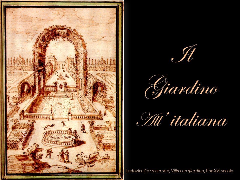 Il Giardino All italiana Ludovico Pozzoserrato, Villa con giardino, fine XVI secolo