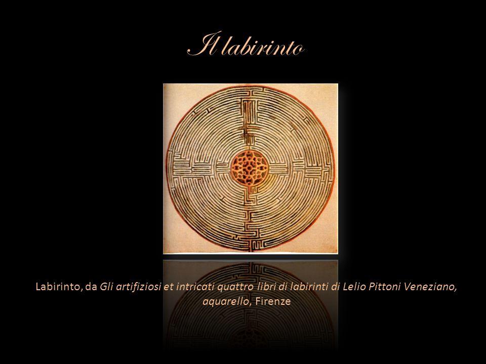 Il labirinto Labirinto, da Gli artifiziosi et intricati quattro libri di labirinti di Lelio Pittoni Veneziano, aquarello, Firenze