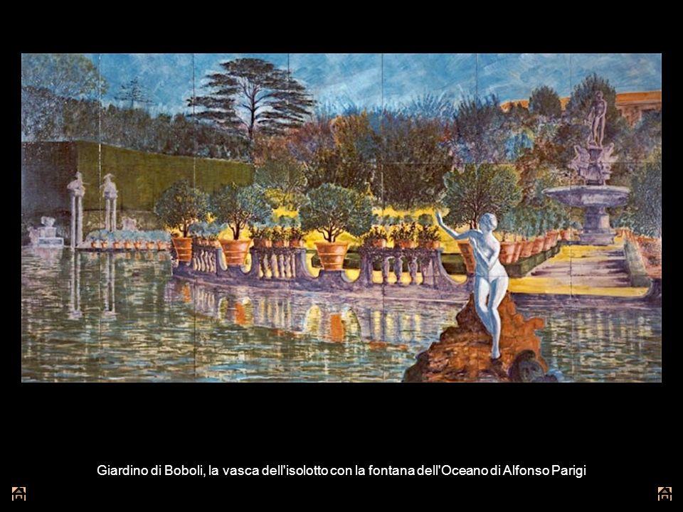 Giardino di Boboli, la vasca dell'isolotto con la fontana dell'Oceano di Alfonso Parigi