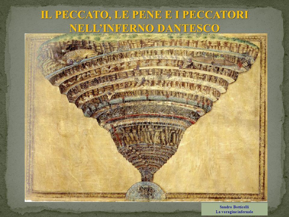 IL PECCATO, LE PENE E I PECCATORI NELLINFERNO DANTESCO Sandro Botticelli La voragine infernale