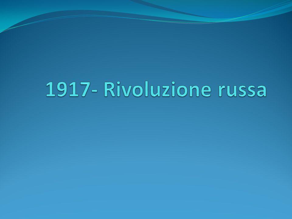 LA RIVOLUZIONE D OTTOBRE La guarnigione di Pietrogrado si rivoltò contro il governo invitando il soviet della città a prendere tutto il potere A metà del giugno 1917 un offensiva dell esercito russo fu fermata dai tedeschi e si risolse in un ennesimo disastro militare.