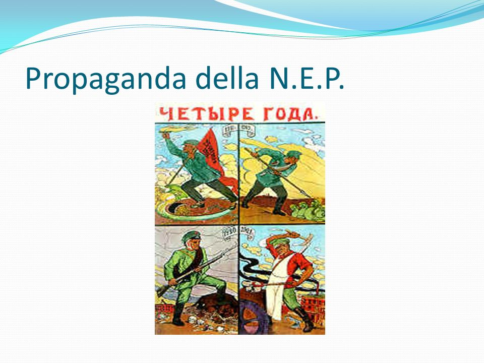 Propaganda della N.E.P.
