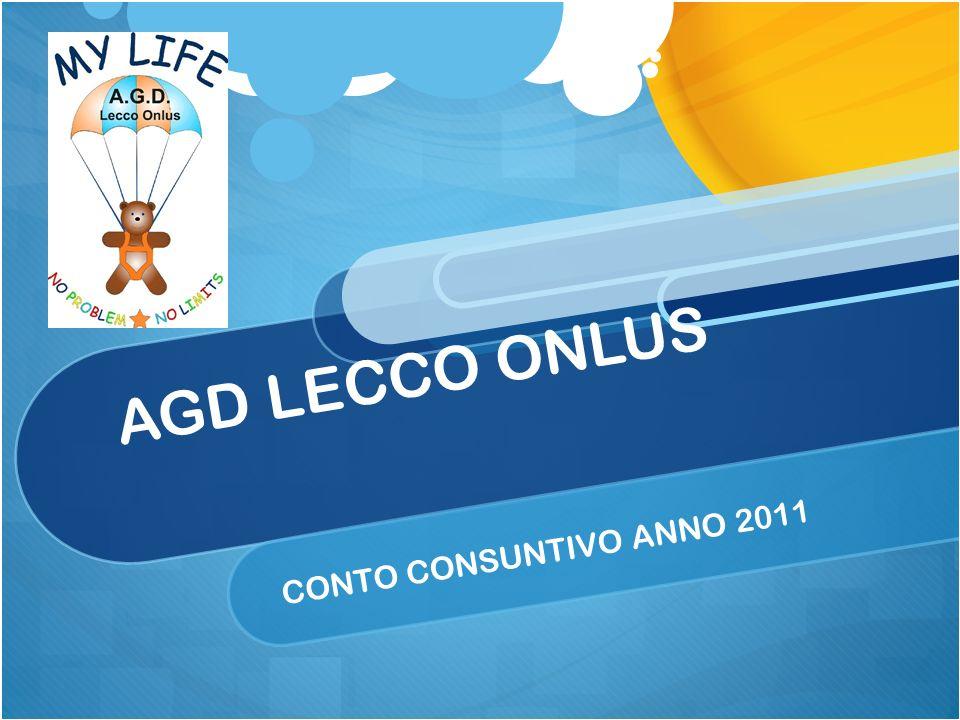 AGD LECCO ONLUS CONTO CONSUNTIVO ANNO 2011