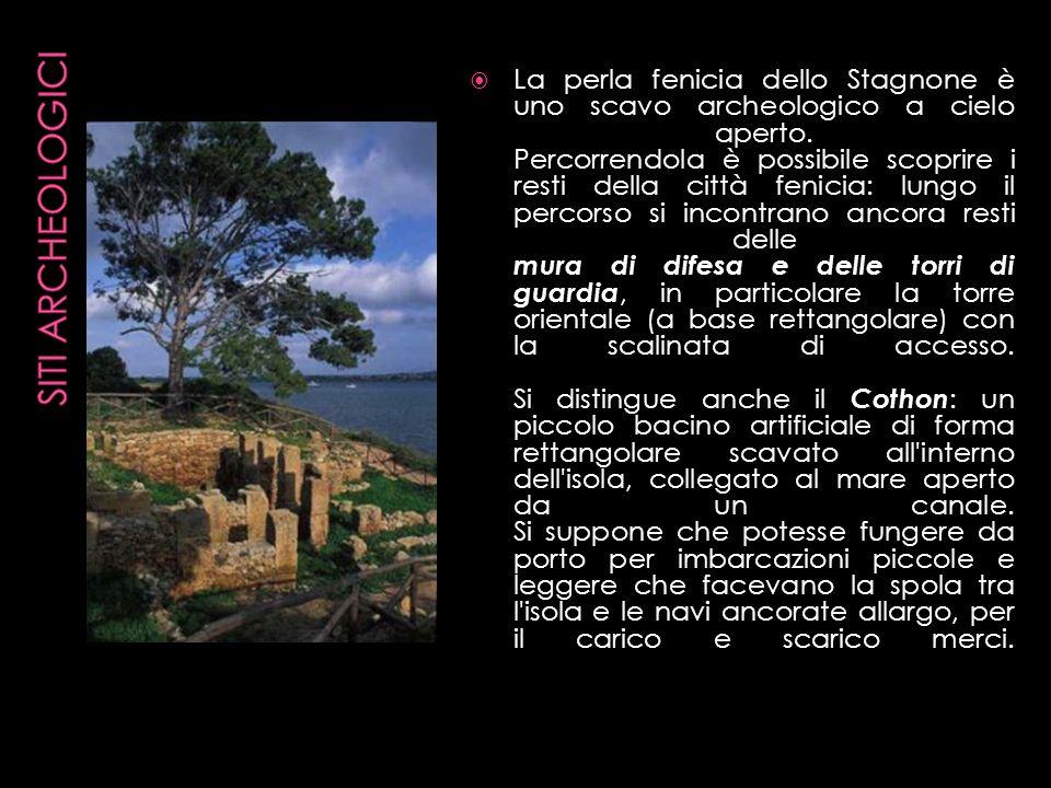 La perla fenicia dello Stagnone è uno scavo archeologico a cielo aperto. Percorrendola è possibile scoprire i resti della città fenicia: lungo il perc