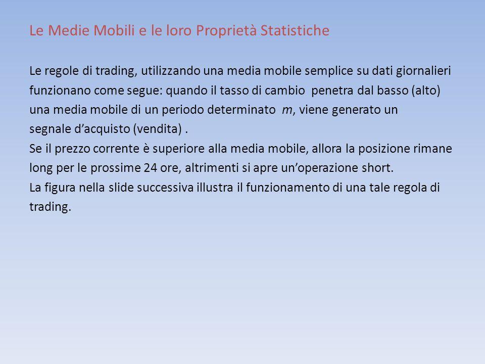 Le Medie Mobili e le loro Proprietà Statistiche Le regole di trading, utilizzando una media mobile semplice su dati giornalieri funzionano come segue: