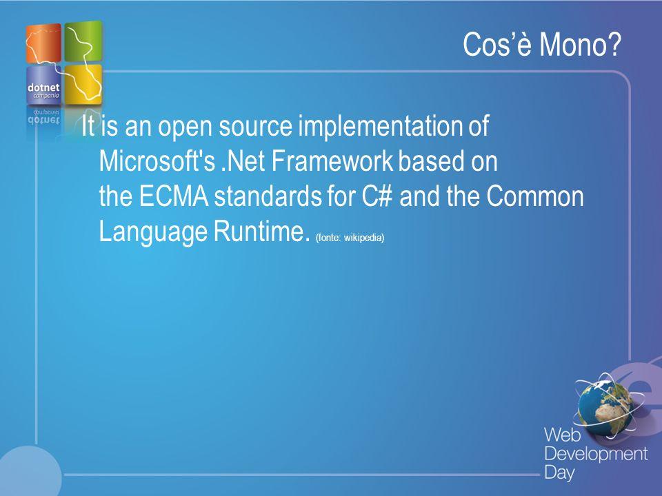 Fare clic per modificare lo stile del titolo Fare clic per modificare stili del testo dello schema – Secondo livello Terzo livello – Quarto livello » Quinto livello E i brevetti?.Net Framework Teconologie sotto ECMA ASP.NET ADO.NET Windows.Forms