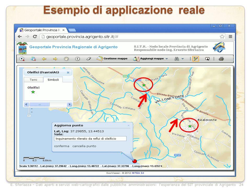 E. Sferlazza – Dati aperti e servizi web-cartografici dalle pubbliche amministrazioni: l'esperienza del SIT provinciale di Agrigento Esempio di applic