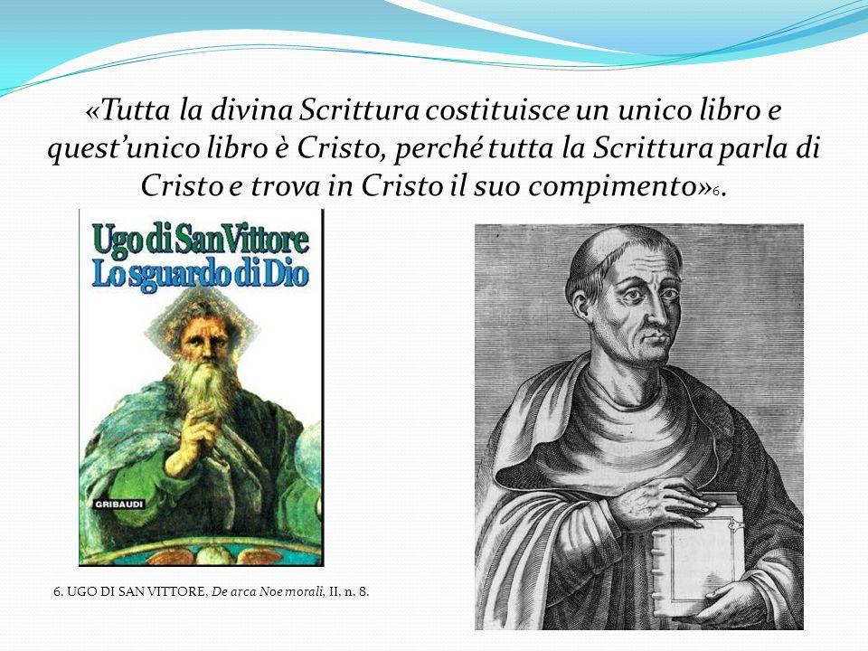 «Tutta la divina Scrittura costituisce un unico libro e questunico libro è Cristo, perché tutta la Scrittura parla di Cristo e trova in Cristo il suo