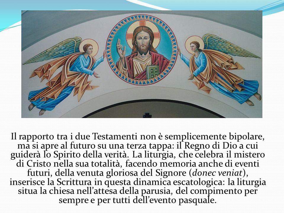 Il rapporto tra i due Testamenti non è semplicemente bipolare, ma si apre al futuro su una terza tappa: il Regno di Dio a cui guiderà lo Spirito dell