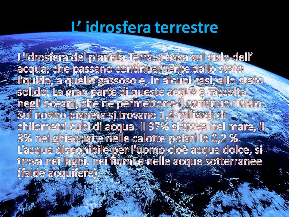 L idrosfera terrestre