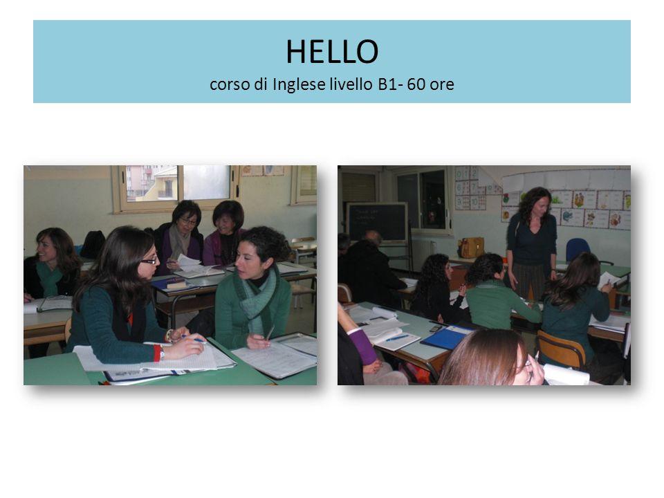 HELLO corso di Inglese livello B1- 60 ore