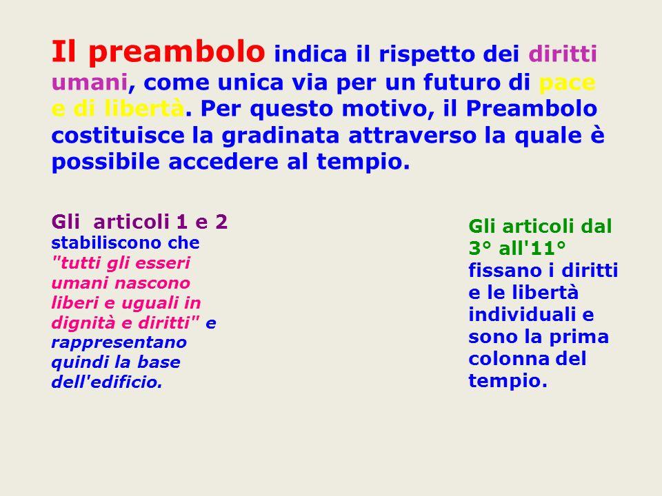 La Dichiarazione è composta da 30 articoli, preceduti da una sorta di introduzione (Preambolo).