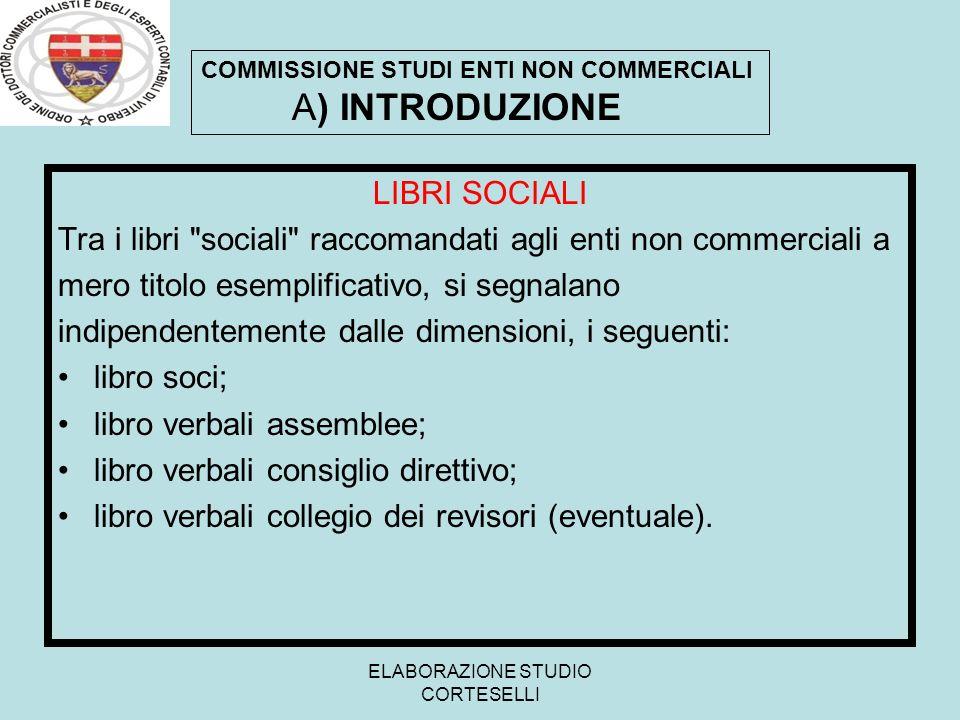 ELABORAZIONE STUDIO CORTESELLI LIBRI SOCIALI Tra i libri