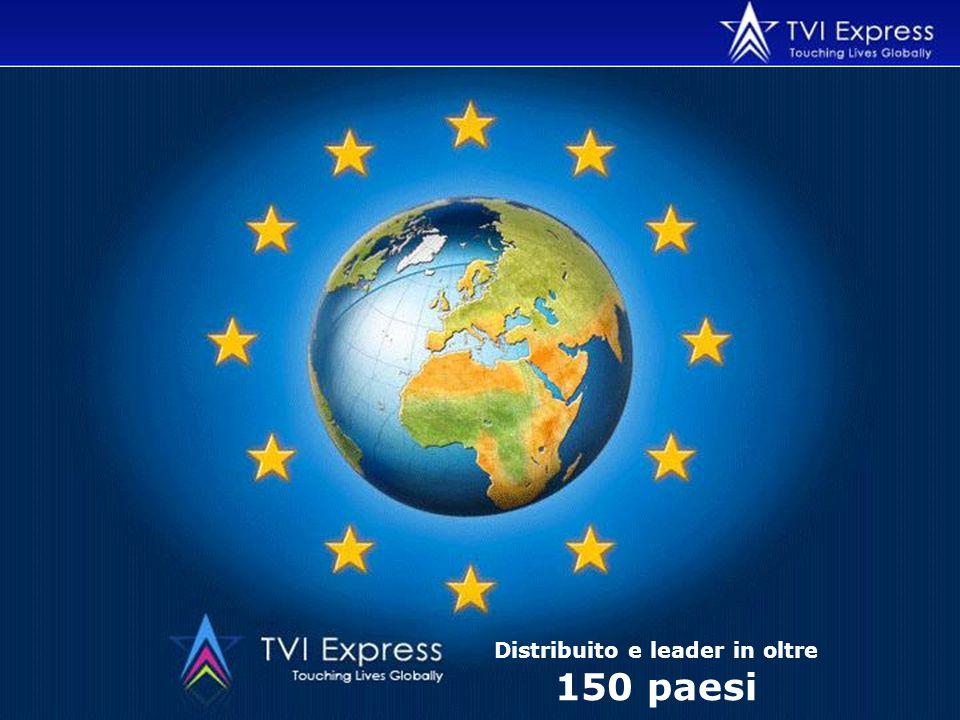 Distribuito e leader in oltre 150 paesi